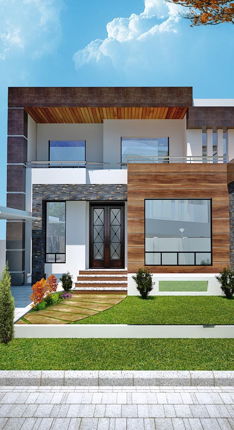 3d house elevation