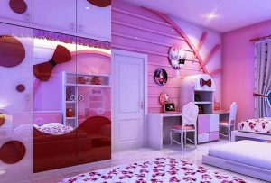child bedroom wall layout