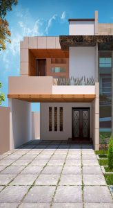 modern 1 kanal house elevation